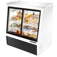 True TSID-48-4 White Single Duty Four Door Refrigerated Deli Case - 16 Cu. Ft.