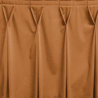Snap Drape WYN6V17629-BTTR Wyndham 17' 6 inch x 29 inch Butterscotch Bow Tie Pleat Table Skirt with Velcro® Clips