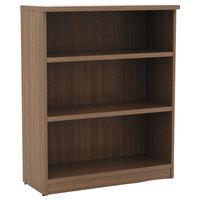 Alera ALEVA634432WA Valencia Series 31 3/4 inch x 14 inch x 39 3/8 inch Modern Walnut 3-Shelf Bookcase