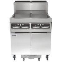 Frymaster SCFHD250G 100 lb. 2 Unit Liquid Propane Floor Fryer System with CM3.5 Controls and Filtration System - 200,000 BTU