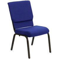 Flash Furniture XU-CH-60096-NVY-GG Navy Blue 18 1/2 inch Wide Church Chair with Gold Vein Frame