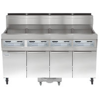 Frymaster SCFHD450G 200 lb. 4 Unit Liquid Propane Floor Fryer System with SMART4U 3000 Controls and Filtration System - 400,000 BTU