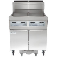Frymaster SCFHD250G 100 lb. 2 Unit Natural Gas Floor Fryer System with Thermatron Controls and Filtration System - 200,000 BTU