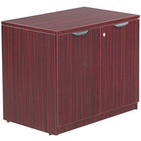 Alera ALEVA613622MY Valencia Series 34 inch x 22 3/4 inch x 29 1/2 inch Mahogany Storage Cabinet