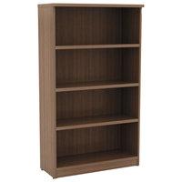 Alera ALEVA635632WA Valencia Series 31 3/4 inch x 14 inch x 55 inch Modern Walnut 4-Shelf Bookcase