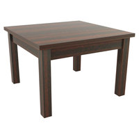 Alera ALEVA7524MY Valencia 23 5/8 inch Square Mahogany Occasional Table