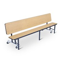 National Public Seating CBG96 8 Foot Mobile Convertible Cafeteria Bench Unit with Particleboard Core and Ganging Devices
