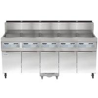 Frymaster SCFHD550G 250 lb. 5 Unit Liquid Propane Floor Fryer System with SMART4U 3000 Controls and Filtration System - 500,000 BTU