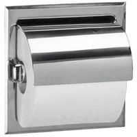 Bobrick B-6697 Recessed Toilet Tissue Dispenser with Stainless Steel Hood and Satin Finish