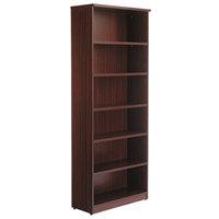 Alera ALEVA638232MY Valencia Series 31 3/4 inch x 14 inch x 80 3/8 inch Mahogany 6-Shelf Bookcase