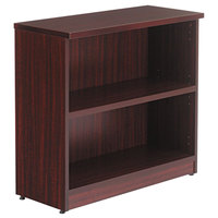 Alera ALEVA633032MY Valencia Series 31 3/4 inch x 14 inch x 29 1/2 inch Mahogany 2-Shelf Bookcase