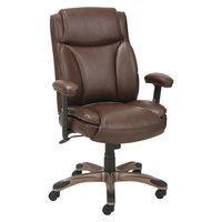 Alera ALEVN5159 Veon Series Medium-Back Brown Leather Executive Chair with Coil Spring Cushioning