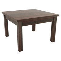 Alera ALEVA7520MY Valencia 23 5/8 inch x 20 inch Mahogany Occasional Table