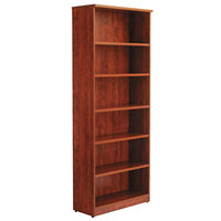 Alera ALEVA638232MC Valencia Series 31 3/4 inch x 14 inch x 80 3/8 inch Medium Cherry 6-Shelf Bookcase