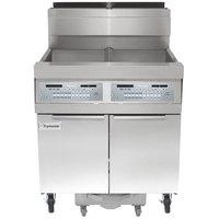 Frymaster SCFHD250G 100 lb. 2 Unit Liquid Propane Floor Fryer System with SMART4U 3000 Controls and Filtration System - 200,000 BTU