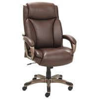 Alera ALEVN4159 Veon Series High-Back Brown Leather Executive Chair with Coil Spring Cushioning