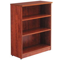 Alera ALEVA634432MC Valencia Series 31 3/4 inch x 14 inch x 39 3/8 inch Medium Cherry 3-Shelf Bookcase