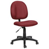 Alera ALEVT48FA30B Essentia Series Burgundy Acrylic Swivel Task Chair