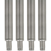 Advance Tabco TA-20-4 34 1/2 inch Stainless Steel Legs - 4/Set