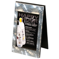 Menu Solutions MTDBL-58 Two View Swirl Aluminum Menu Tent with Picture Corners - 5 1/2 inch x 8 1/2 inch