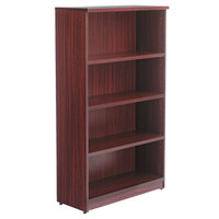 Alera ALEVA635632MY Valencia Series 31 3/4 inch x 14 inch x 55 inch Mahogany 4-Shelf Bookcase