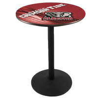 Holland Bar Stool L214B3628AL-ELE-D2 28 inch Round University of Alabama Pub Table with Round Base