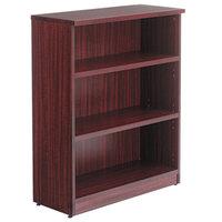 Alera ALEVA634432MY Valencia Series 31 3/4 inch x 14 inch x 39 3/8 inch Mahogany 3-Shelf Bookcase