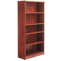 Alera ALEVA636632MC Valencia Series 31 3/4 inch x 14 inch x 65 inch Medium Cherry 5-Shelf Bookcase