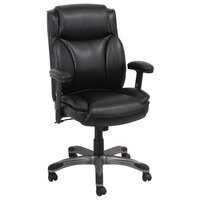 Alera ALEVN5119 Veon Series Medium-Back Black Leather Executive Chair with Coil Spring Cushioning