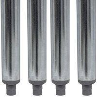 Advance Tabco TA-16-4 34 1/2 inch Galvanized Steel Legs - 4/Set