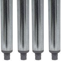 Advance Tabco TA-16-4 34 1/2 inch Galvanized Steel Legs - 4/Set