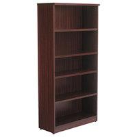 Alera ALEVA636632MY Valencia Series 31 3/4 inch x 14 inch x 65 inch Mahogany 5-Shelf Bookcase