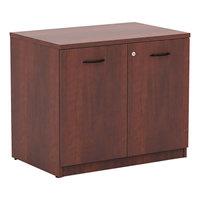 Alera ALEVA613622MC Valencia Series 34 inch x 22 3/4 inch x 29 1/2 inch Medium Cherry Storage Cabinet