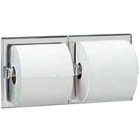 Bobrick B-6977 Recessed Double Toilet Tissue Dispenser with Satin Finish