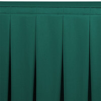 Snap Drape WYN5V21629-TEAL Wyndham 21' 6 inch x 29 inch Teal Continuous Pleat Table Skirt with Velcro® Clips