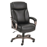 Alera ALEVN4119 Veon Series High-Back Black Leather Executive Chair with Coil Spring Cushioning