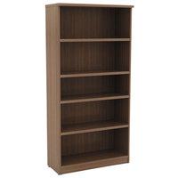 Alera ALEVA636632WA Valencia Series 31 3/4 inch x 14 inch x 65 inch Modern Walnut 5-Shelf Bookcase