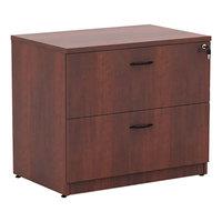 Alera ALEVA513622MC Valencia Medium Cherry Two-Drawer Laminate Lateral File Cabinet - 34 inch x 22 3/4 inch x 29 1/2 inch