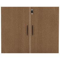 Alera ALEVA632832WA Valencia Series 31 1/4 inch Walnut Cabinet Door Set