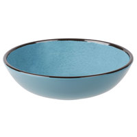 Elite Global Solutions DB8225M Mojave Vintage California 32 oz. Cameo Blue Round Crackle Bowl - 6/Case