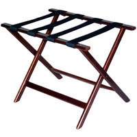 CSL 277CM Economy Series Cherry Mahogany Wood Luggage Rack - 6/Pack