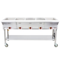APW Wyott PSST5S Portable Steam Table - Five Pan - Sealed Well, 240V