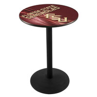 Holland Bar Stool L214B3628FSU-FS-D2 28 inch Round Florida State University Pub Table with Round Base