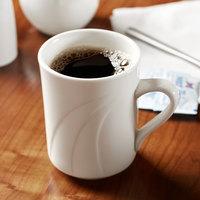 Syracuse China 905437891 Elan 8.5 oz. Round Royal Rideau White Porcelain Mug - 36/Case