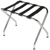 CSL 155C-BL-1 Flat Top Series Chrome Metal Luggage Rack