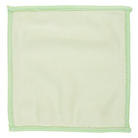 Unger MF10L MicroWipe Mini 4 inch x 4 inch Green Microfiber Glass Cleaning Cloth   - 10/Pack