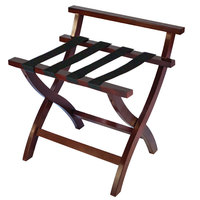 CSL 79MAH-1 Premier Series Mahogany High Back Wood Luggage Rack