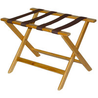 CSL 177LT-1 Deluxe Series Light Wood Luggage Rack