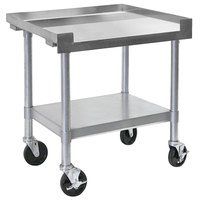 Bakers Pride HDS-24C (232401) 24 inch x 30 inch Mobile Stainless Steel Equipment Stand with Undershelf