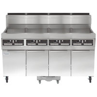 Frymaster SCFHD460G 320 lb. 4 Unit Natural Gas Floor Fryer System with CM3.5 Controls and Filtration System - 500,000 BTU